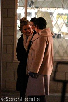 Rose Mciver & Ginny Goodwin on the set of OUAT - January 24, 2014