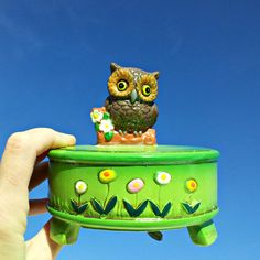 Vintage Owl Music Box by DollFood on Etsy, $24.95