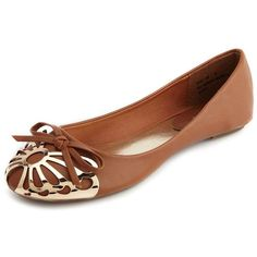 Butterfly Cap Toe Ballet Flat ($29) ❤ liked on Polyvore