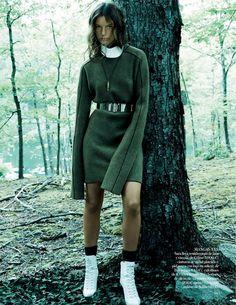 Lena Hardt in Celine By Paola Kudacki For Vogue Spain November2014