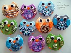 Polymer clay magnets - Owls                                                                                                                                                                                 More