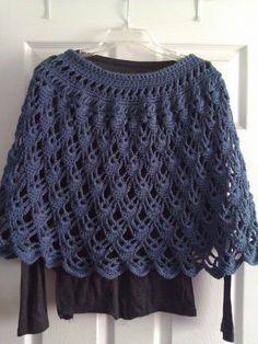 poncho crochet pattern free |