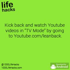 youtube.com/leanback                                                                                                                                                                                 More