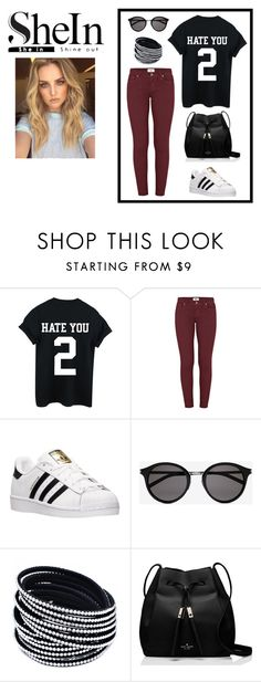 """SheIn'"" by minna-998 ❤ liked on Polyvore featuring Paige Denim, adidas, Yves Saint Laurent and Kate Spade"