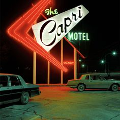 ARTIST: Jeff BrouwsSERIES: HighwayTITLE:  Capri MotelWORK DATE:  1993  via Craig Krull Gallery