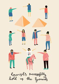Tourists successfully hold up Pyramids - Fuchsia Macaree