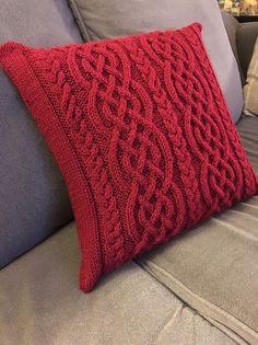 Celtic Knit Aran Pillow Free Knitting Pattern