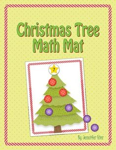 Christmas Tree Math Mat....can also be used as a play dough mat