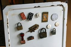 What a creative way to use these old bits and pieces.
