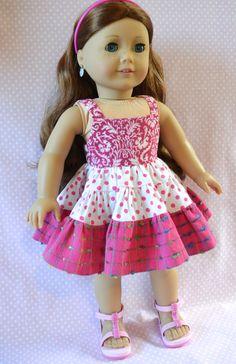 Free Patterns for American Girl Dolls Easter Dress American Girl Dress, American Girl Crafts, American Doll Clothes, American Dolls, Sewing Doll Clothes, Girl Doll Clothes, Girl Dolls, Pixie, America Girl
