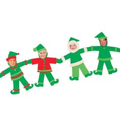 Christmas Craft: Elf Family {with template}