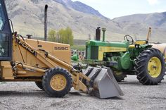 555 Ford backhoe, 730 John Deere