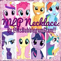 Chunky MLP necklaces from @MsBubblegumGlam on Etsy and Instagram!!