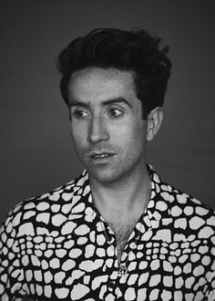 Nick Grimshaw wears white polka dot splatter shirt from Topman