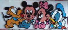 Baby Mickey and friends hama perler beads by Deco.Kdo.Nat