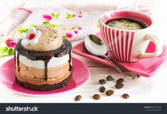 Gourmet coffee. Cup of coffee and cake. Cake photography. Stock photography, images, pictures, Illustrations. Cake Images Download. Sweet food is gourmet. Festive dessert.