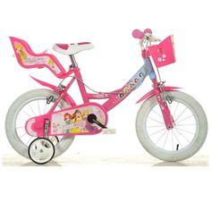 Dino Disney Kids' Bike with Removable Stabilisers Disney Princess Bike, Disney Cars, Disney Frozen, Bmx Bikes For Sale, Bike Experience, Doll Carrier, Power Wheels, Bike Brands, Kids Bike