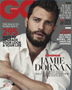 Jamie Dornan covers the February 2017 issue of GQ Australia.