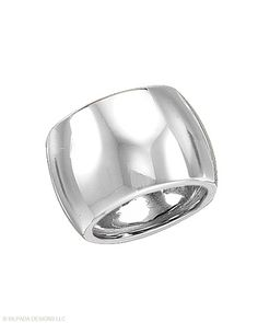 Outlast the trends with this Sterling Silver Cuff Ring that never goes out of style. Whole sizes 5-11.