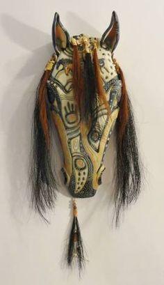 Gallery 2 - Updated 2015 Horse Skull, Horse Art, Palm Frond Art, Painted Gourds, Masks Art, Horse Sculpture, Ceramic Figures, Southwest Art, Gourd Art