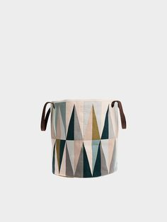 Graphic, modern and colorful basket - Made of 100% organic cotton - Decorative storage for your home