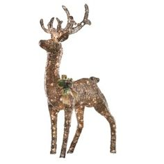 48 Quot Grapevine Reindeer With Head Down Led Outdoor Yard