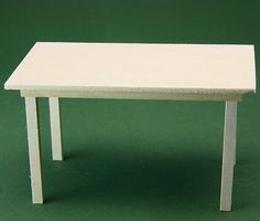 Ten part detailed & illustrated series on the basics of making simple dollhouse tables | Source: About.com