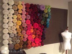 Inexpensive and Easy Yarn Organization Wall