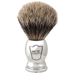 Parker Chrome Handle Pure Badger Bristle Brush