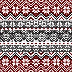 knitted snowflake pattern | Nordic snowflake pattern Royalty Free Stock Vector Art Illustration