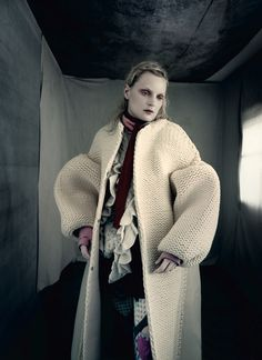 Guinevere van Seenus in 'Pins & Needles' ph Paolo Roversi for Dazed & Confused, Fall 2014