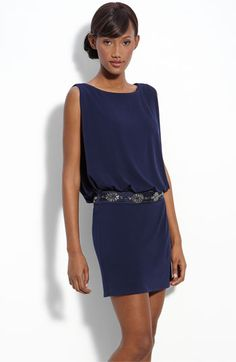 Laundry by Shelli Segal Jersey Blouson Dress with Back Keyhole | Nordstrom