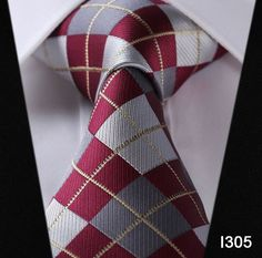 Checked & Stripe Silk Tie