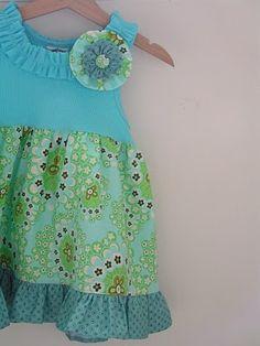 toddler tunic top/dress tut (great website for tutorials on re-purposing)