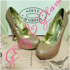 ❤'s SALE 2X HPSteve Madden Heels HOLIDAY PREP PARTY HOST PICK 12/13GLITZ AND GLAMOUR PARTY HOST PICK 1/5/15Chosen By @lissa413 & @baby_k Check Out Their ClosetExcellent Condition! Pink Glitter Heels by Steve Madden. Will come in original shoe box.?? This is a reposh??I purchased to wear for my daughter's birthday but she didn't get to have her party. No flaws.   There are no scuffs ,  stains or missing glitter! Perfect to pair with Betsey Johnson dress listed in closet Price Firm Steve…