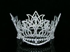 Full Crown Bridal Wedding Pageant Queen Rhinestone Crystal Tiara -- Visit the image link more details. (This is an affiliate link) Pageant Crowns, Tiaras And Crowns, Royal Crowns, Rhinestone Wedding, Crystal Rhinestone, Crystal Wedding, Venus Jewelry, Headband Styles, Bridal Tiara