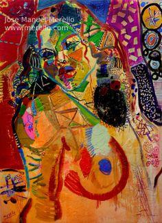 "W O M A N.  Jose Manuel Merello.- ""Woman"" (130x97 cm) Mix media on canvas.   ARTE CONTEMPORÁNEO. ARTE ACTUAL. ARTISTAS CONTEMPORÁNEOS. PINTURA ESPAÑOLA MODERNA. http://www.merello.com"