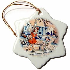 Ornaments to Paint Scenes from the Past Magic Lantern - Vintage Childrens Book Adventures of Butterfly Girl and Her Friend - -- Find out more about the great product at the image link.