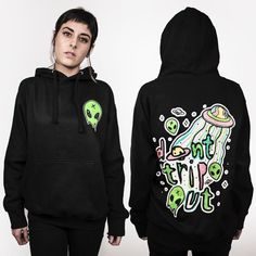 DON'T TRIP OUT • UNISEX HOODIE | Teen Hearts Clothing - STAY WEIRD