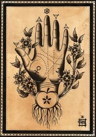 SYMBOLISM: ALCHEMY The word alchemy conjures up images that are magical and mystical. Alchemy differs significantly from modern science in its inclusion of Hermetic principles and practices . Symbol Hand, Tarot, Magia Elemental, Alchemy Tattoo, Muster Tattoos, Palm Reading, Mystique, Palmistry, Book Of Shadows