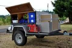 Examples of Home Built Camping Trailers. Dbl-click pic for article. Think #mobile for #NaturalDisaster.