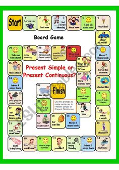 Present simple/present continuous worksheets Present Continuous Worksheet, Present Continuous Tense, Simple Present Tense, Grammar Activities, English Activities, Vocabulary Games, Verb Games, English Grammar Games, English Vocabulary