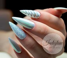 How to choose your fake nails? - My Nails Long Nails, My Nails, Aqua Nails, Crome Nails, Mermaid Nails, Cute Nail Art, Holographic Nails, Birthday Nails, Nagel Gel