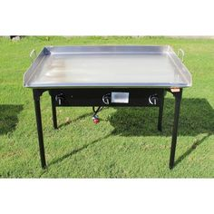 Concord Cookware Portable Griddle Grill with Triple Burner Stove Propane Griddle, Griddle Grill, Propane Gas Grill, Portable Charcoal Grill, Portable Grill, Barbacoa, Outdoor Cooking Stove, Outdoor Oven, Flat Top Griddle