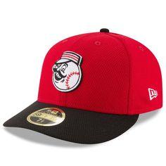 Cincinnati Reds New Era Diamond Era 59FIFTY Low Profile Fitted Hat - Red/Black - $37.99