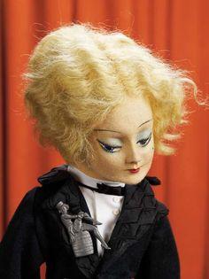 Boudoir Dolls From the 1920 S | Felt Boudoir Doll representing Marlene Dietrich, ... | Boudoir Dolls