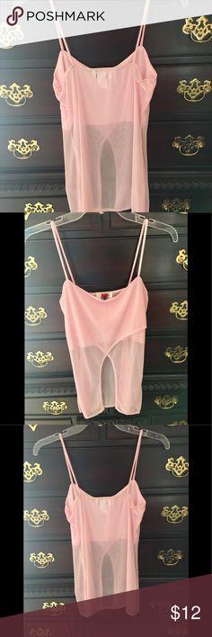 Provocative pink sheer top by VENUS (NWOT) Provocative pink sheer top by VENUS new without tags VENUS Tops Crop Tops