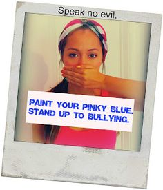 Anti bullying campaign - Blue pinky swear to end bullying gonna do this now :)