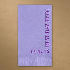 Periwinkle Guest Towel Party Napkins Wedding Dinner Personalized