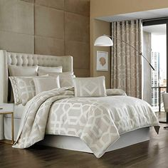 Amazon.com: J. Queen New York Kingsgate Queen Comforter Set in Wheat: Bedding & Bath Bedding And Curtain Sets, Cheap Bedding Sets, Bedding Sets Online, Curtains, Affordable Bedding, Luxury Comforter Sets, Queen Comforter Sets, Red Comforter, Where To Buy Bedding
